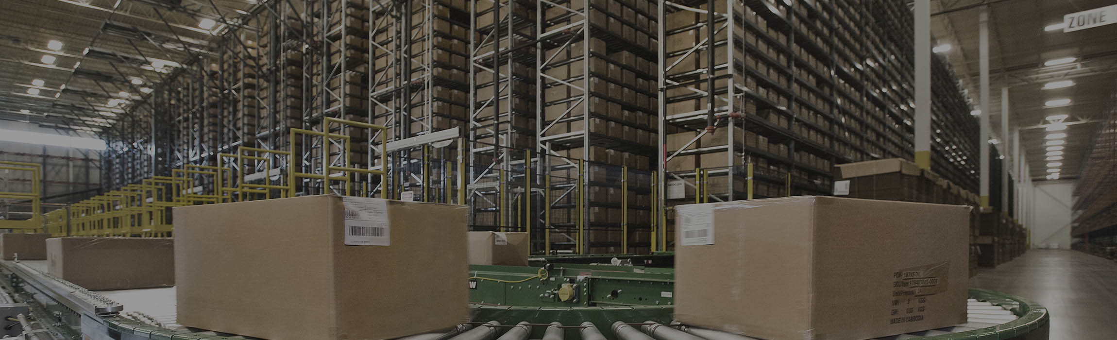 Automatic goods receipt - receiving and storage of cartons.