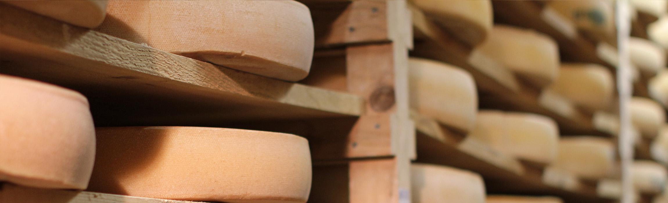 Automatisierte Palettierung von Käse.