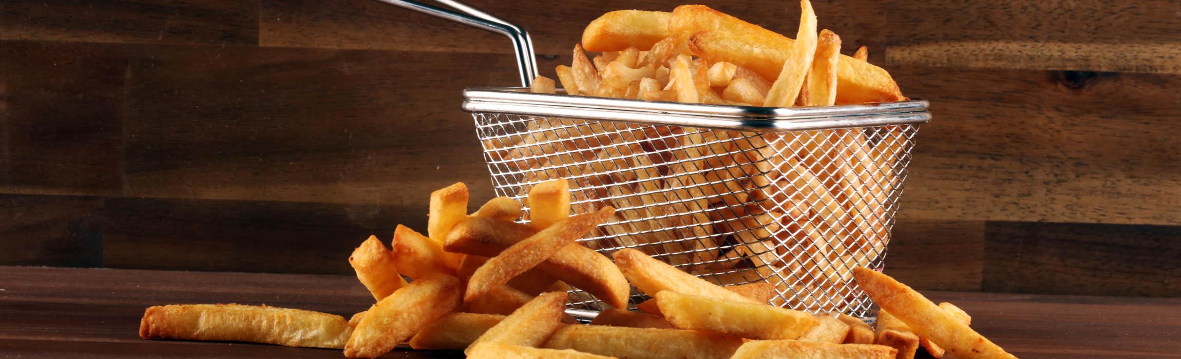 Energy-efficient unit load conveyors for frozen potato products.