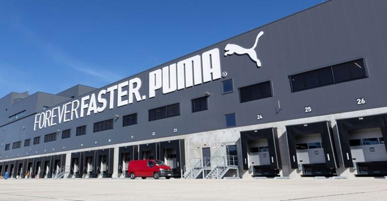 Neue Logistikdrehscheibe für Puma.