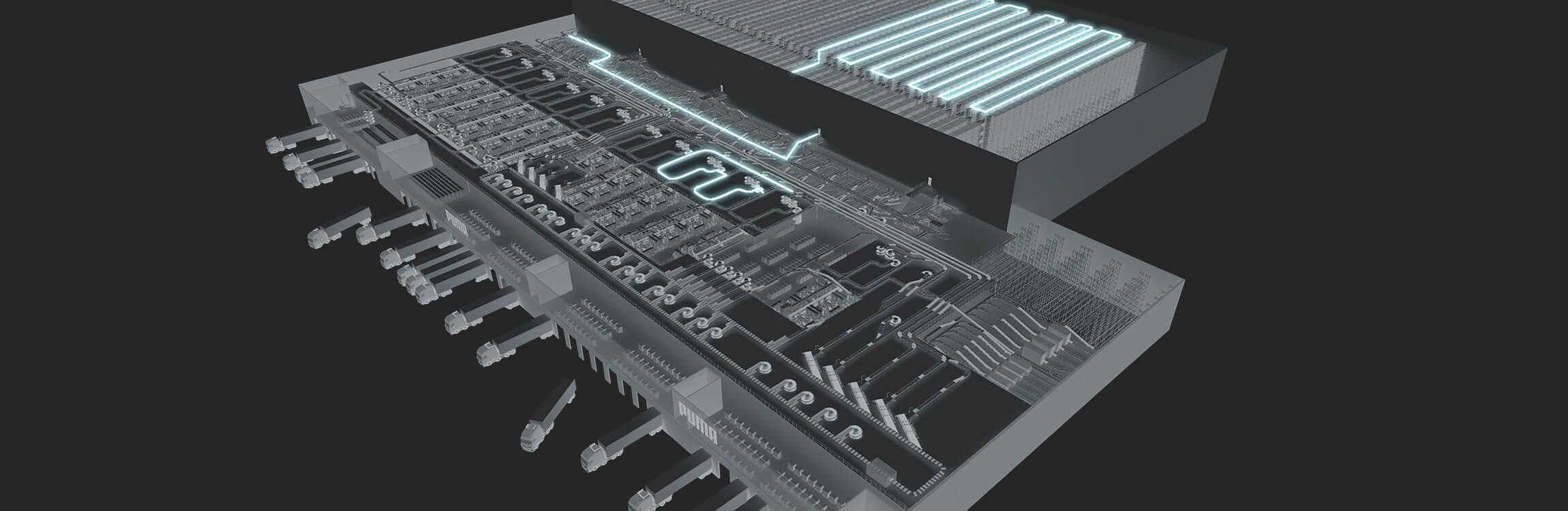 PUMA setzt beim Bau des zentralen Distributionszentrums auf Intralogistik-Lösungen vom Systemanbieter TGW