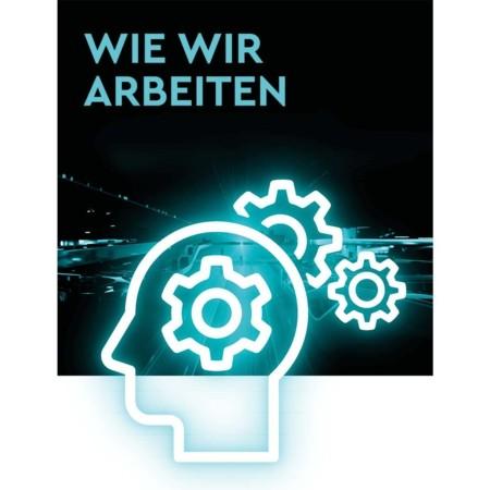 Das TGW Wertesystem als Basis wie wir arbeiten - Verantwortungsbewusst, Aufgeschlossen, Proaktiv, Ergebnisorientiert