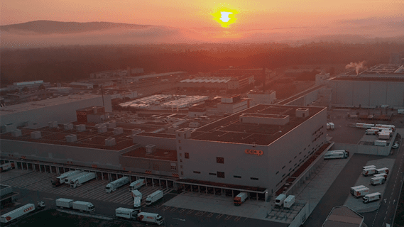 A high-capacity logistics centre was built for the grocer, consisting of four large subareas.