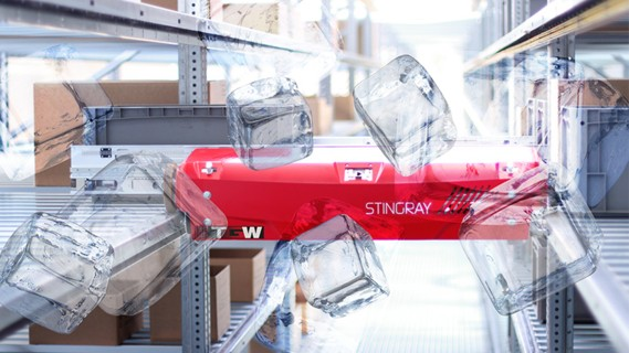 At Nordfrost, TGW Stingray Shuttles are utilised at -24 °C.