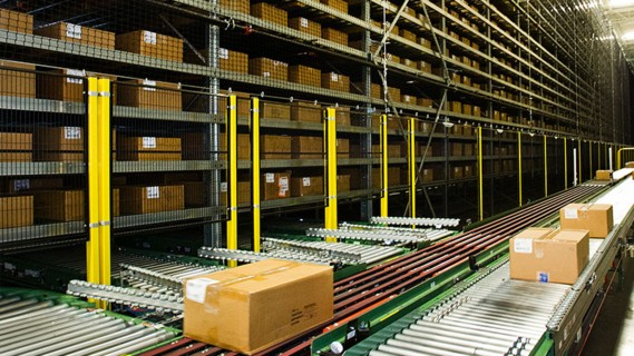 The standardised 'One-Touch Receiving' goods receiving and storage system is integral to the goods receiving process.