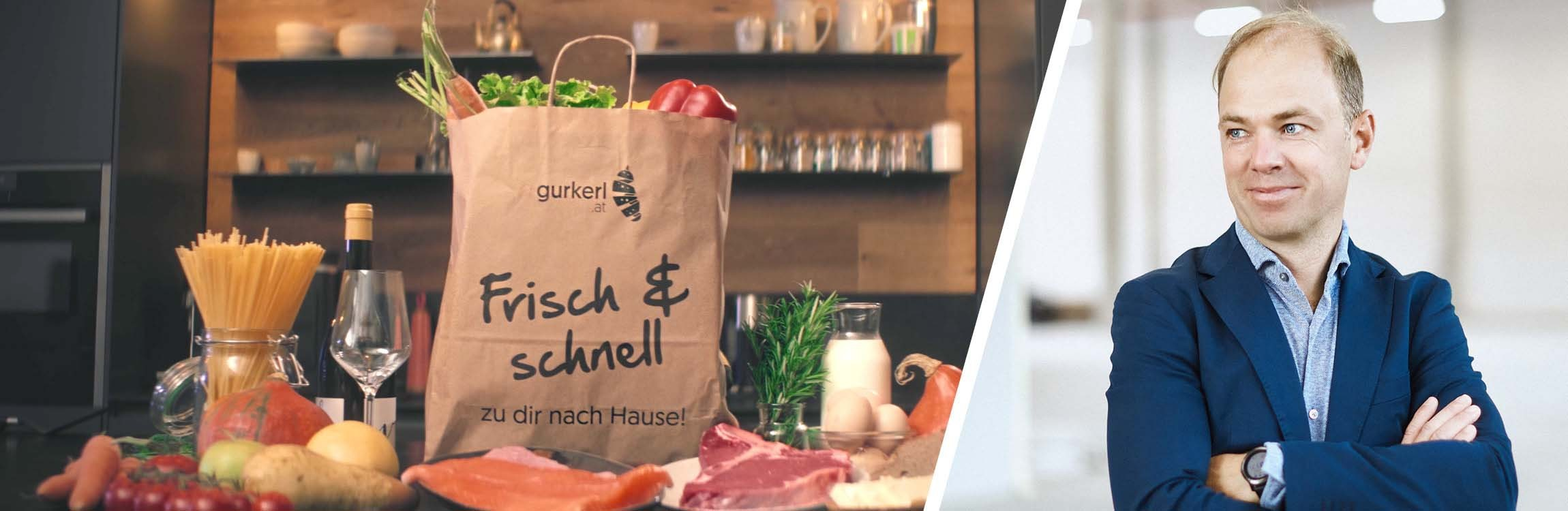 Gurkerl.at: fast and fresh online shopping with service automation.
