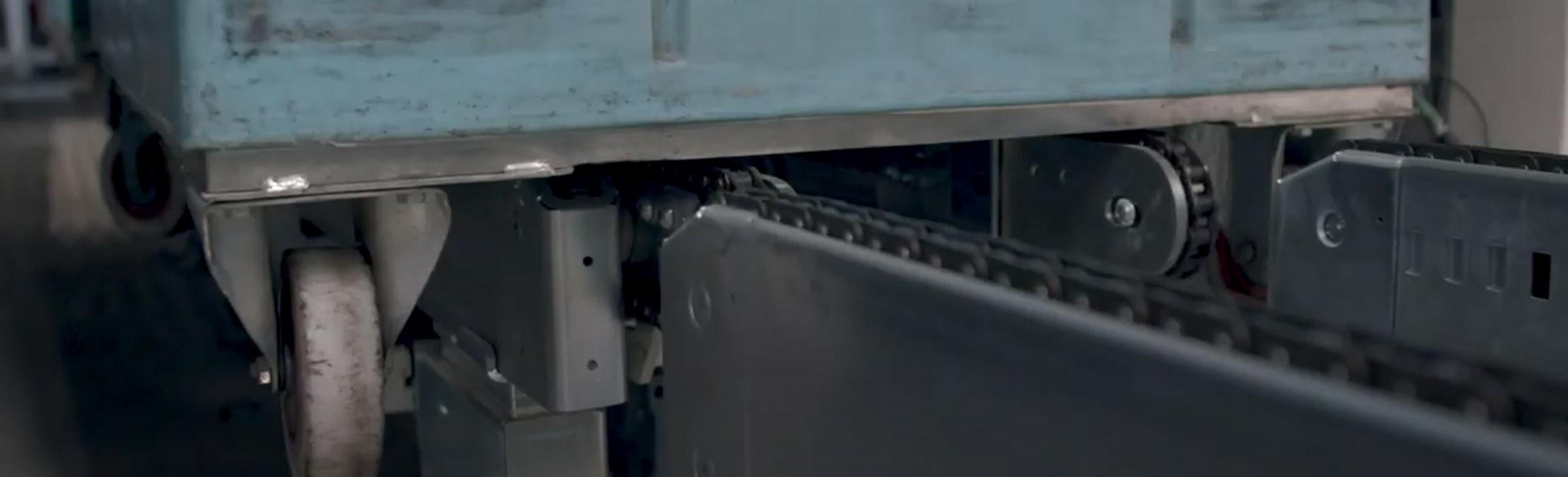 Rollcontainerfördertechnik - hoher Automatisierungsgrad und Durchsatzleistung mit TGW.