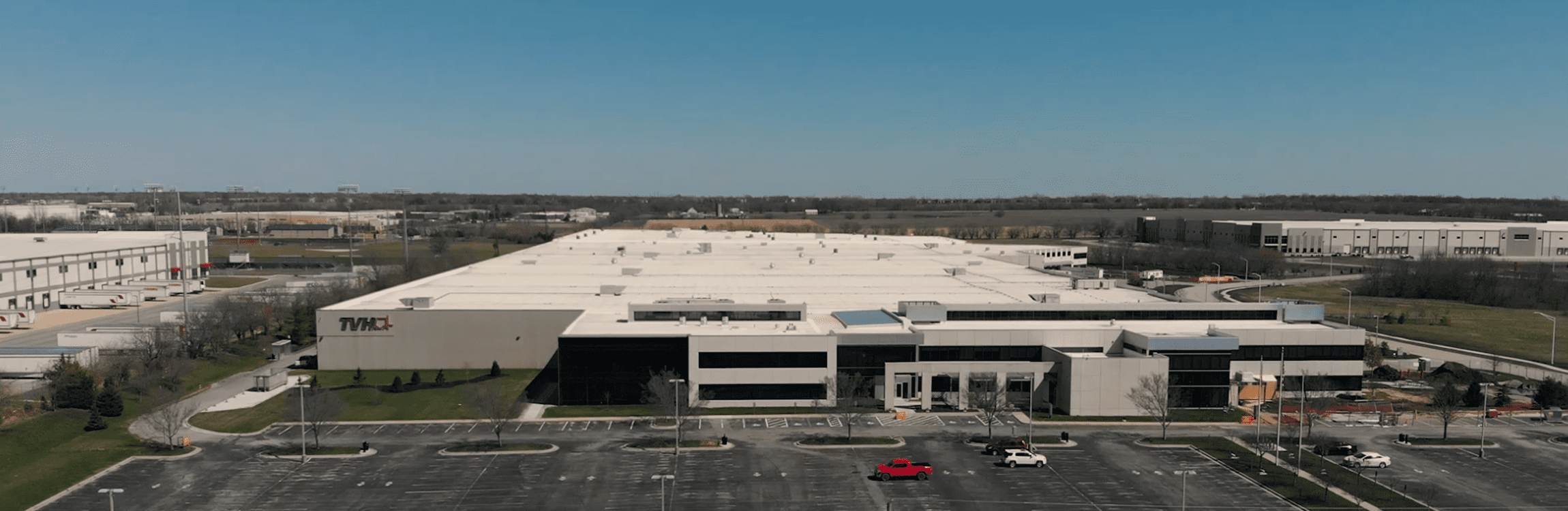 The new distribution center for TVH.