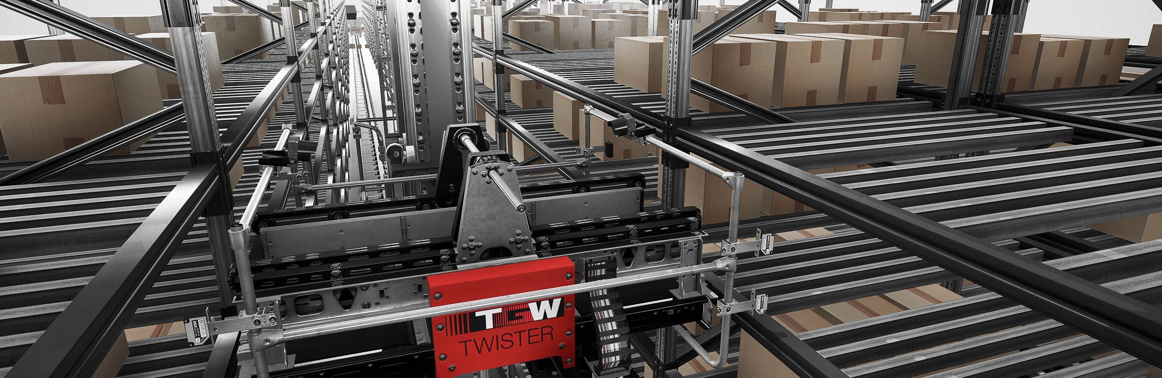 Our intelligent system for incoming goods and storage.