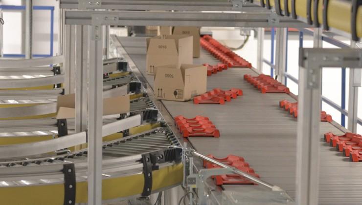 Sortier-Lösung für Kartons und Behälter